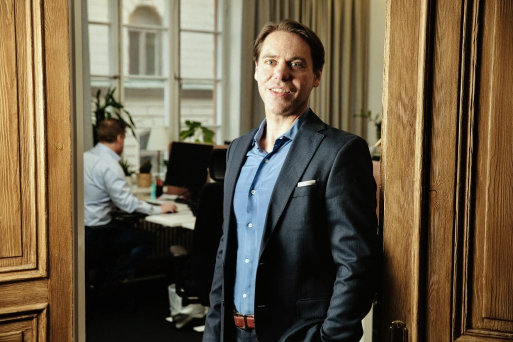 Blika's CEO Peter Öhling at the office in Stockholm